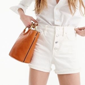J.Crew High-Rise Denim Jean Shorts White 25 / 0